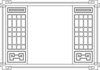 方形框镂空装饰CAD图案