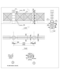 方形图案钢围墙CAD做法详图