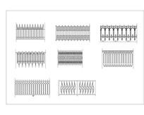 围墙铁艺栏杆CAD图块