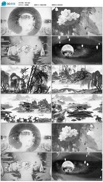 中国风古诗词水墨画龙文视频