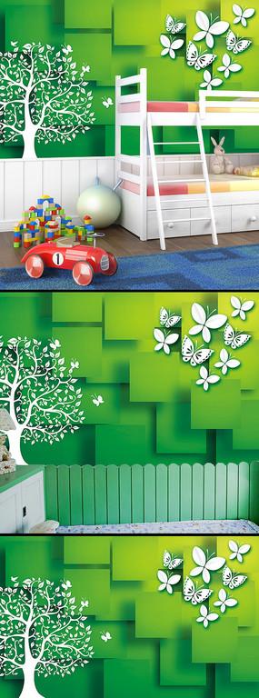 高清动漫卡通儿童卧室背景墙