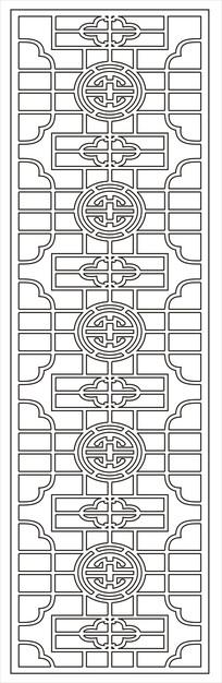线形镂空雕刻图案