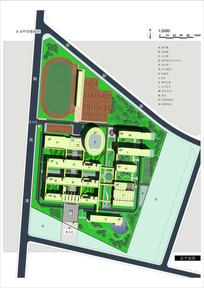 XX中学新校区彩色平面图