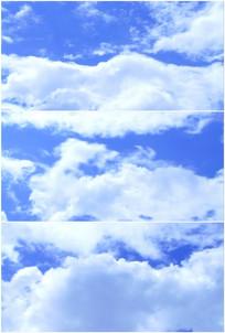 蓝天白云云朵快速飘动实拍高清视频