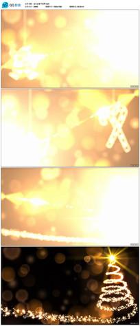 金色粒子圣诞新年开场片头视频