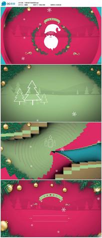 圣诞老人节日祝福问候片头视频