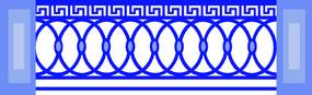 特色歐式欄桿圓形圖案裝飾