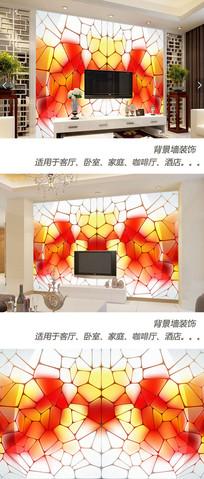 斑驳光影玻璃纹理背景墙