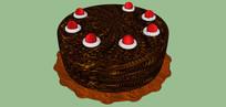 黑色樱桃蛋糕