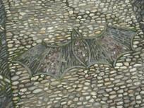 古典蝙蝠图案铺地