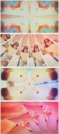 画面分割镜像摄影图片相册片头