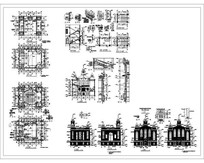 教堂建筑CAD平面立面CAD施工图