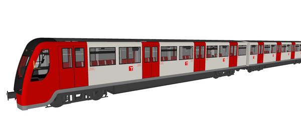 红灰色火车模型