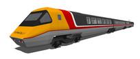 黄灰色火车模型SU