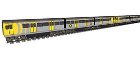 黄灰色火车模型