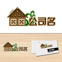花纹房子形状图案标志logo