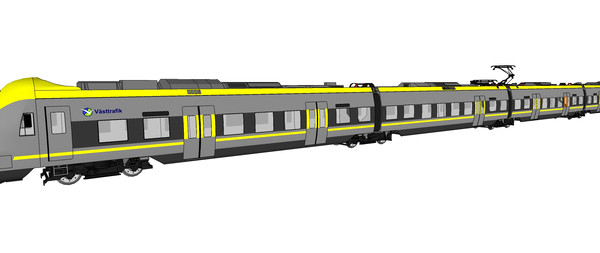 灰色火车模型