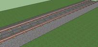 火车铁轨SU模型