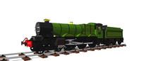绿色火车头SU模型