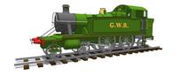 绿色火车头模型