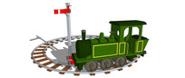 绿色玩具火车