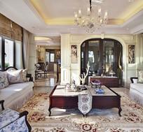 欧式花纹装饰客厅