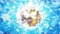 圣诞节新年雪花logo标志开场片头模板