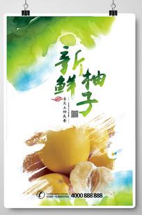 水果柚子海报设计模版