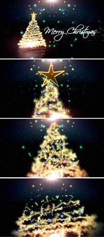 绚丽圣诞节新年片头模板