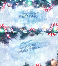 雪花笔刷圣诞节新年雪花logo片头模板