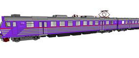 紫色火车模型