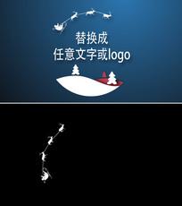 圣诞老麋鹿新年片头ae模