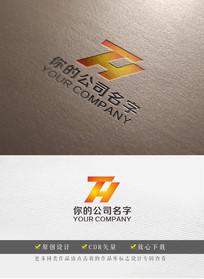 字母TH商业贸易logo