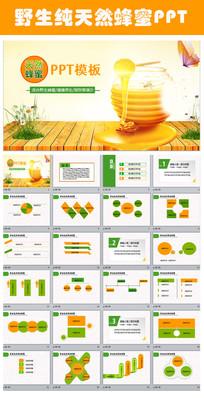 野生纯天然100%蜂蜜PPT动态模板