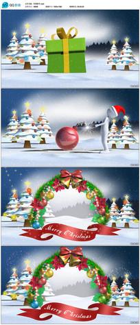 圣诞节新年送礼物片头视频素材