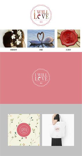 花店婚庆公司美甲店婚纱店logo设计