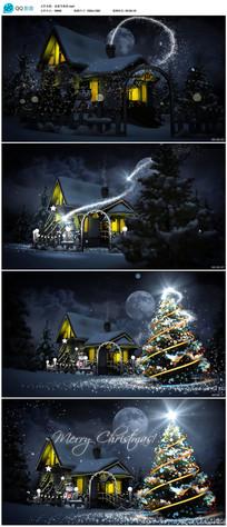 魔法粒子光效圣诞新年开场片头视频