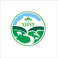 清真牛羊肉牛奶草原logo设计