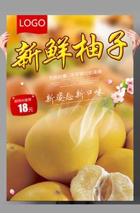 水果柚子海报设计
