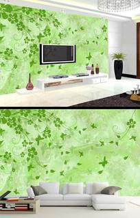 树枝枝条绿色小清新背景墙
