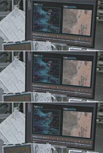 卫星地图云图显示沙尘暴视频