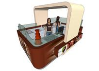 巧克力柜台SU模型