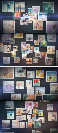 多照片图片汇聚成LOGO演绎视频模板