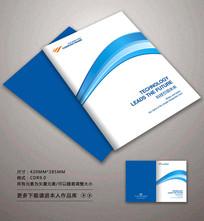 简约时尚蓝色科技封面设计