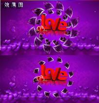 唯美婚庆庆典LOVE背景视频