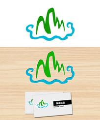 云中山风景logo标志