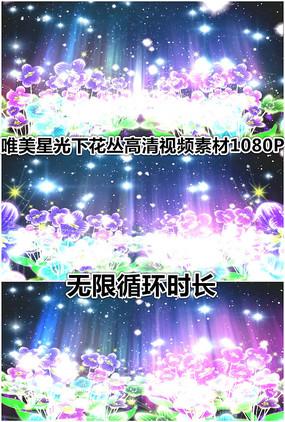 花丛星光闪耀透明花朵视频