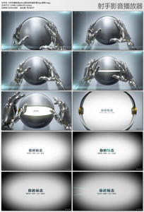 edius高科技机械手臂logo演绎模板
