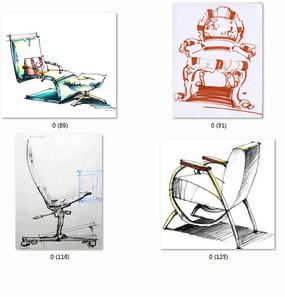 椅子手绘图