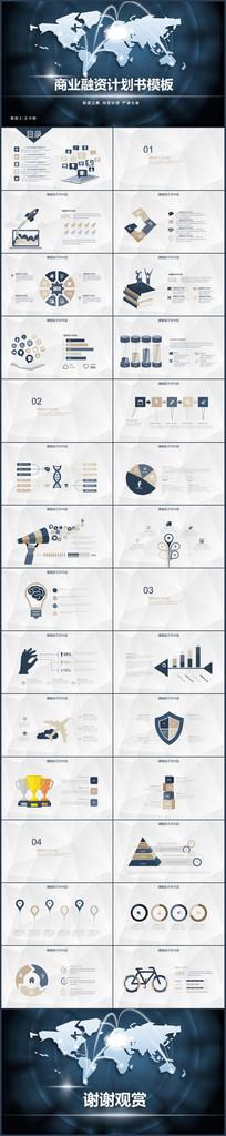 2017商务创业融资计划书ppt模板